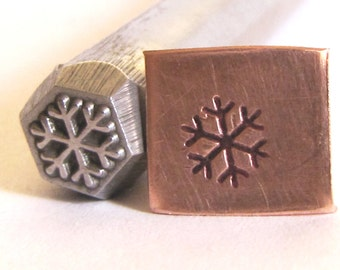 Snow flake 3/8 design stamp Great detail on this stamp 6.5 mm x 6.5 mm