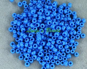 8/0 Round TOHO Japanese Glass Seed Beads #43D-Opaque Cornflower 15g