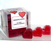 Extra Life 8 Bit Heart Soaps 20 Pcs. Pink Berry Mimosa Handmade Glycerin Soap for your favorite Gamer or Geek