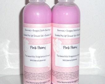 Pink Peony Bubble Me Up 9 Oz  Body Wash Bubble Bath Shower Gel