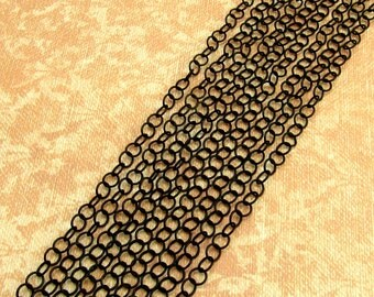 Black Cable Chain, 4 mm, Soldered, 6 Feet, MB14