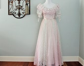Lace Heart Dress in Soft Pink