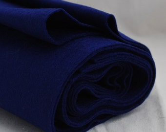 100% Pure Wool Felt Fabric - 1mm Thick - Made in Western Europe - Royal Blue
