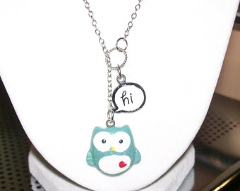 Friendly Owl Lariat Necklace