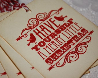 Have Yourself a Merry Little Christmas Gift Tags - Set of 8