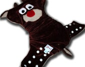 Roman the Reindeer - Small Organic Bamboo Velour All in Two AI2 Cloth Diaper