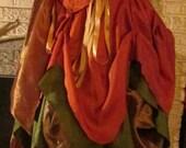 Renaissance FAIRY Gown Dress costum Wench Womens Costume reversible CORSET