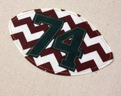 Football Spirit Patch- Custom T-Shirt Applique