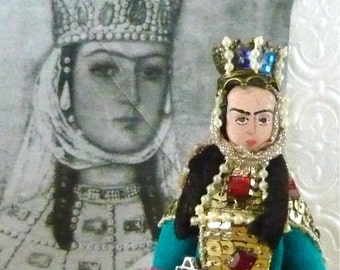 Tamar the Great of Georgia Historical Queens Art Doll Miniature by Uneek Doll Designs