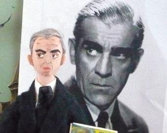 Boris Karloff Doll Miniature Horror Movie Actor Old Hollywood