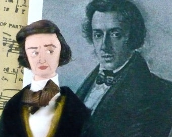 Frederic Chopin Doll Miniature Famous Composers Historical Art