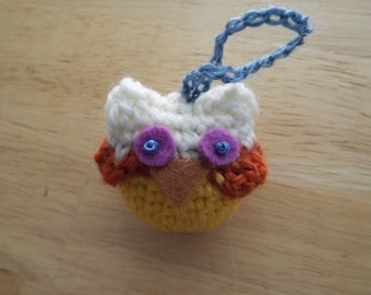 Two-Toned Amigurumi Owl, mini, toy, doll, FREE shipping