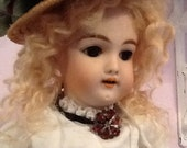 Antique German Doll Heinbach Handwerck Bisque Porcelain 1900's Beauty 17 inch tall Free Shipping