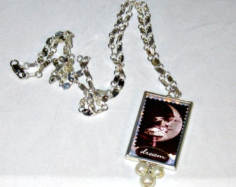 Dream and Believe Picture Frame Necklace