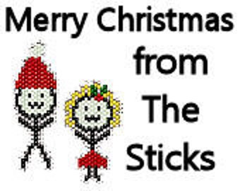Brick Stitch Earring Pattern Christmas Holiday Sticks Stick People Figure Drawing Delica Seed Bead Jewelry Pattern