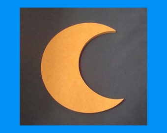 Moon Handmade Unfinished Mdf Wood Cut Out Mosaic Base  Craft shape Choose Your Thickness