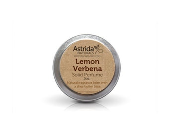 Lemon Verbena Solid Perfume Fragrance Balm with Shea Butter