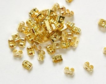 Gold Plated Earnuts Earring Backs  (50) fnd023B