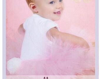 Bunny Tail Tutu Easter Bunny Tutu Dress Toddler Easter Skirt 9 12 18 Months