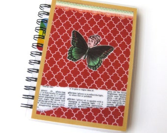 Collage Art Notebook // Butterfly Girl