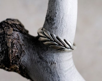 Silver Wheatgrass Ring | Statement Ring | Nature Inspired Ring