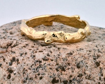 14k Gold Branch Ring | Stacking Ring | Nature Inspired Rings