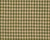 Homespun Fabric | Cotton Homespun Fabric | Quilt Fabric | Green And Tea Dye Small Check | 35 x 44