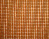 FLAWED Homespun Material Orange Window Pane 1 Yard