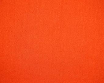 Orange Cotton Material - Destash -  Damaged - 3.5 Yard