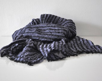 Long striped scarf unisex pure line spring summer autumn winter fashion