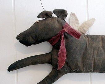 Clancey, A Primitive Folk Art Dog Pattern From Raven's Haven