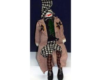 Philip - Handmade Snowman Doll