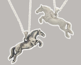 3D Jumping Horse Pendant