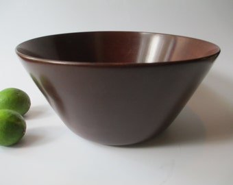 Mod Vintage Mohogany Wooden Serving Bowl
