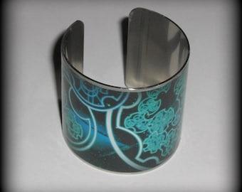 Gallifreyan Cuff Bracelet, Time Lord Cuff Bracelet, Tardisy Cuff Bracelet, Brass or Stainless Steel Cuff Bracelet
