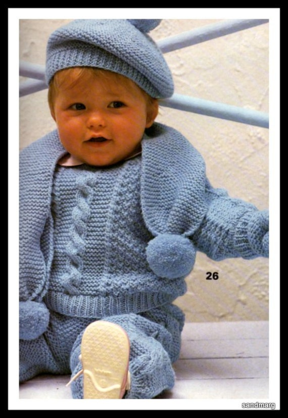 Phildar Mailles no 114 Knitting Patterns for Baby and Toddler