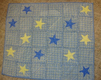 Handmade chenille baby quilt - CLEARANCE @ 50% OFF