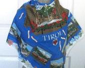 souvenir scarf . Austrian scarf . Austrian souvenir Scarf . Tyrolien Scarf . Tirol scarf