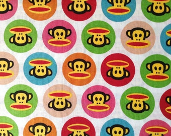 3442 - Monkey in Circle Cotton Fabric - 43 Inch (Width) x 1/2 Yard (Length)