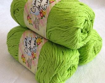 BRIGHT GREEN Creme de la Creme Cotton Yarn , 100% cotton yarn