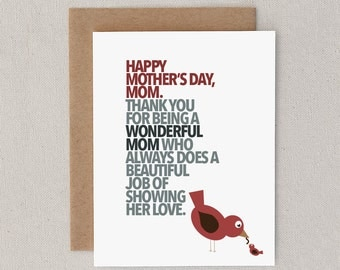 "Funny Mother's Day Greeting Card. For Mom, Mother. Happy Mother's Day. Sarcastic. Snarky. Humor. Clever. Witty.""No Pony"" (CSP-M010)"