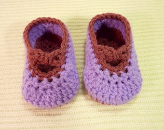 Baby bootees Crossover strap shoes 0-3 months