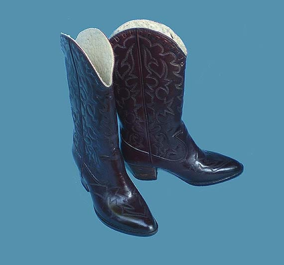 Vintage 70s Cowgirl Rubber Rain Boots 6 Andrew Geller