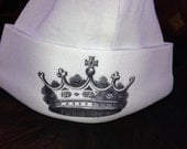Newborn Baby Royal Hat with Crown for HRH baby hat, baby knotted hat, baby knot hat, knotted hat, white cotton baby hat, newborn hat