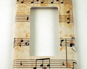 Rocker Light Switch Cover Wall Decor Switchplate Switch Plate in Symphony   (157R)