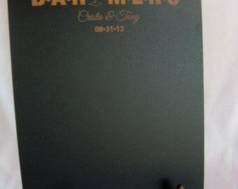 Chalkboard  - Personalized Bar Menu Blackboard with Easel -  Item E1501
