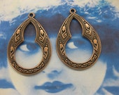 Copper Ox Plated Brass Small Celtic Hoops 1117COP x2