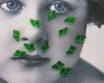 Vintage Tiny Glass Beads 8x6mm 248VIN x12