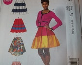 Tiered Pleated Skirt Pattern McCalls 6706