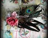 faerie tribal hair fascinator - forest blush